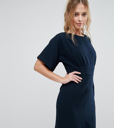 Платье миди с завязкой сзади и разрезом спереди Closet - Синий