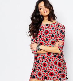 Цельнокройное платье с принтом звезд Noisy May - Мульти