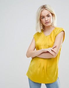 Плиссированный топ Soaked In Luxury - Желтый