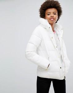 Дутое пальто на молнии Brave Soul - Белый