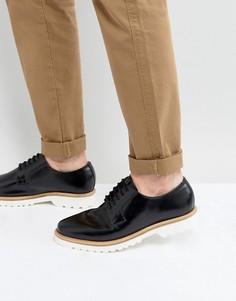Черные блестящие кожаные дерби Ben Sherman - Черный