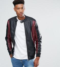 Куртка из искусственной кожи Barneys Originals TALL - Черный