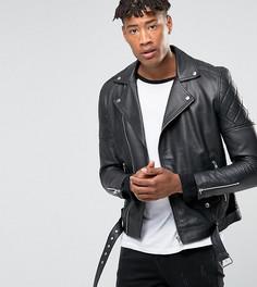 Кожаная байкерская премиум-куртка Barneys Originals TALL - Черный