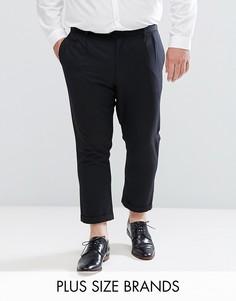 Укороченные брюки со складками Bellfield PLUS - Черный