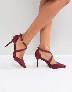 Туфли на каблуке с острым носком и перекрестными ремешками Carvela - Красный
