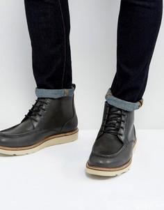 Черные кожаные ботинки на шнуровке Dead Vintage - Черный