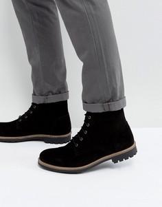 Черные замшевые ботинки на шнуровке Dead Vintage - Черный