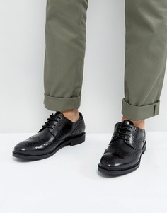 Кожаные черные броги Dead Vintage - Черный