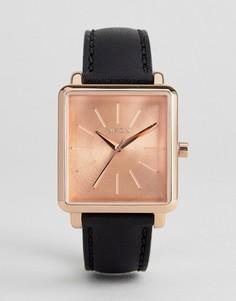 Часы с черным кожаным ремешком Nixon K Squared - Черный