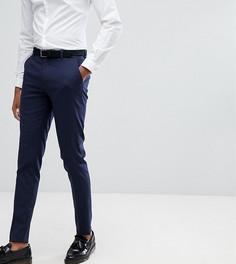 Темно-синие облегающие строгие брюки ASOS TALL - Темно-синий