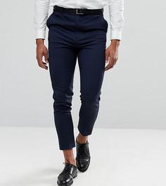 Темно-синие зауженные брюки ASOS TALL - Темно-синий