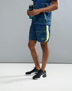 Темно-синие шорты с принтом Puma Running 51600902 - Темно-синий
