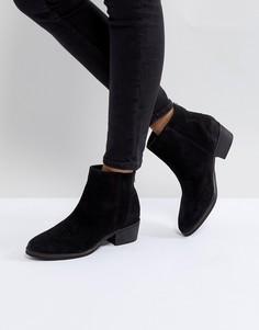 Замшевые туфли на плоской подошве Rule London - Черный