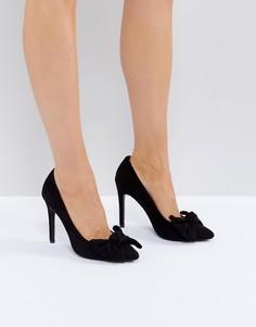Туфли на высоком каблуке с бантом Truffle Collection - Черный