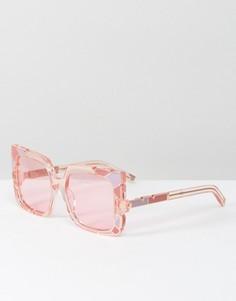 Розовые солнцезащитные оверсайз-очки кошачий глаз Pared - Розовый