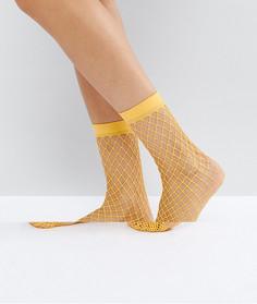 Оранжевые сетчатые носки ASOS - Оранжевый