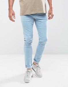 Выбеленные джинсы скинни цвета индиго LDN DNM - Синий