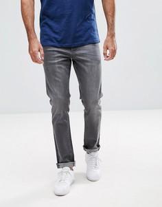 Выбеленные серые джинсы скинни LDN DNM - Серый