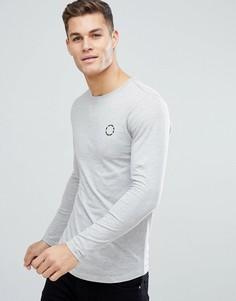 Лонгслив с логотипом на груди Jack & Jones - Серый