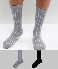 2 пары носков с блестящими полосками ASOS - Мульти