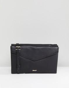 Черная кожаная сумка-конверт через плечо Paul Costelloe - Черный