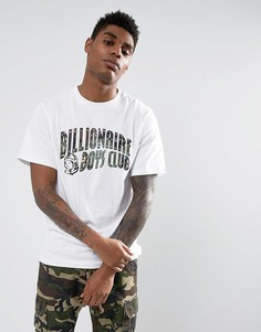 Белая футболка с дугообразным логотипом Billionaire Boys Club - Белый