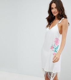 Пляжное платье с вышивкой и кисточками Akasa - Мульти