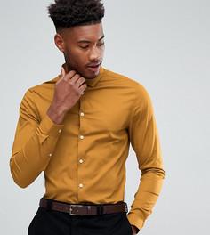 Приталенная рубашка горчичного цвета ASOS TALL - Желтый