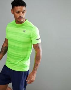 Зеленая футболка для бега New Balance Running Max Intensity MT71047EGL - Зеленый