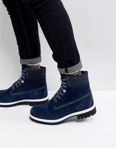 Классические замшевые ботинки Timberland 6 дюймов - Темно-синий