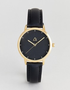 Часы с однотонной разметкой ASOS - Черный