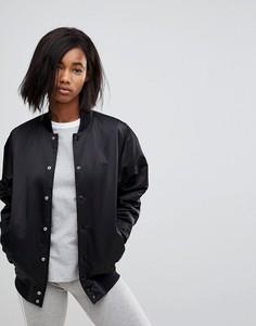 Черный бомбер на кнопках Adidas Originals - Черный
