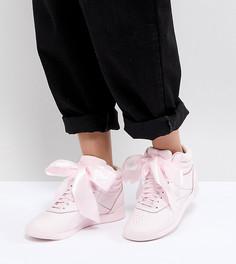 Высокие розовые кроссовки Reebok Classic - Розовый