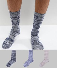 3 пары носков с мраморным эффектом ASOS - Мульти