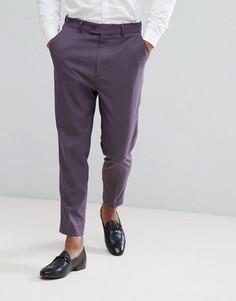 Суженные книзу строгие брюки ASOS - Фиолетовый