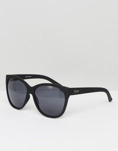 Черные солнцезащитные очки Quay Australia About Last Night - Черный