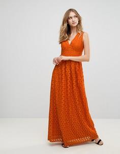 Кружевное платье макси Uttam Boutique - Оранжевый