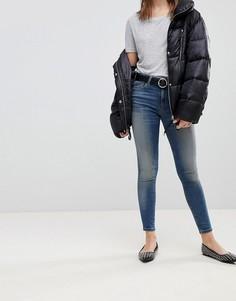 Выбеленные джинсы скинни с классической талией ASOS LISBON - Синий