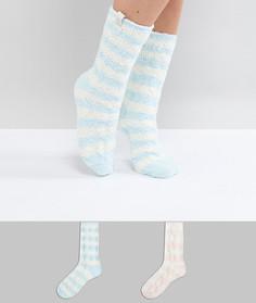 Набор розовых и синих носков в полоску (2 пары) Penguin - Мульти