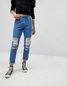 Рваные джинсы в винтажном стиле Only - Синий
