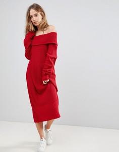 Трикотажное платье Liquorish - Красный