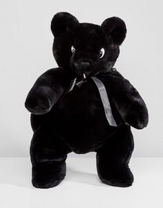 Рюкзак из искусственного меха в форме мишки Lazy Oaf - Черный