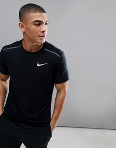 Черная футболка Nike Running 892813-010 - Черный