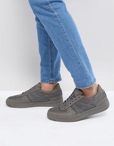 Серые кроссовки со шнуровкой и нейлоновыми вставками ASOS - Серый