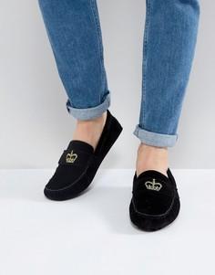 Черные туфли с вышитой короной ASOS - Черный