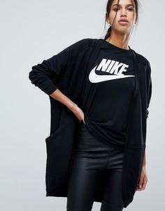 Черный длинный кардиган Nike - Черный