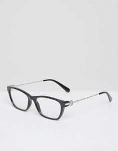 Очки с прозрачными стеклами в квадратной оправе Michael Kors - Коричневый