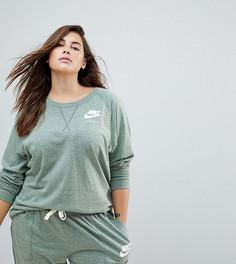 Зеленый свитшот в винтажном стиле Nike Plus - Зеленый