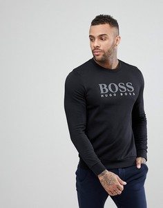 Свитшот с круглым вырезом и длинными рукавами BOSS By Hugo Boss - Черный