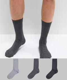 3 пары черно-белых носков из крученой пряжи ASOS - Мульти